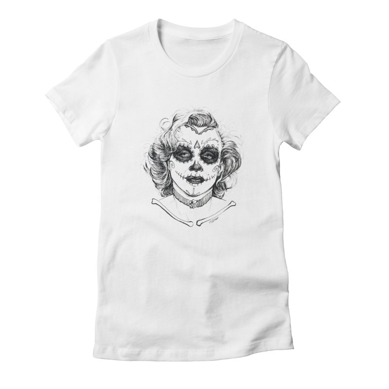 dead Monroe Women's Fitted T-Shirt by Hasan's Crib
