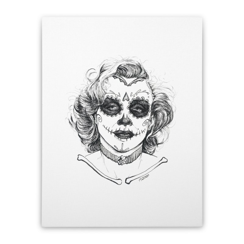 dead Monroe Home Stretched Canvas by Hasan's Crib