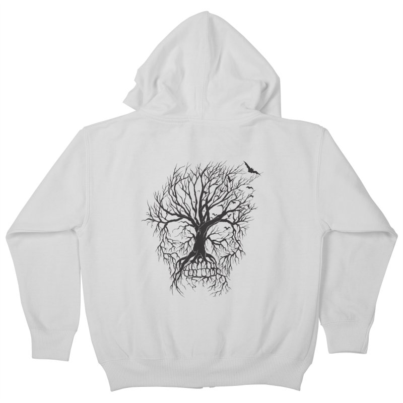 dead Tree Kids Zip-Up Hoody by Hasan's Crib