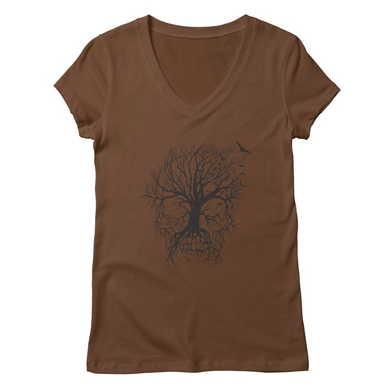 dead Tree Women's V-Neck by Hasan's Crib