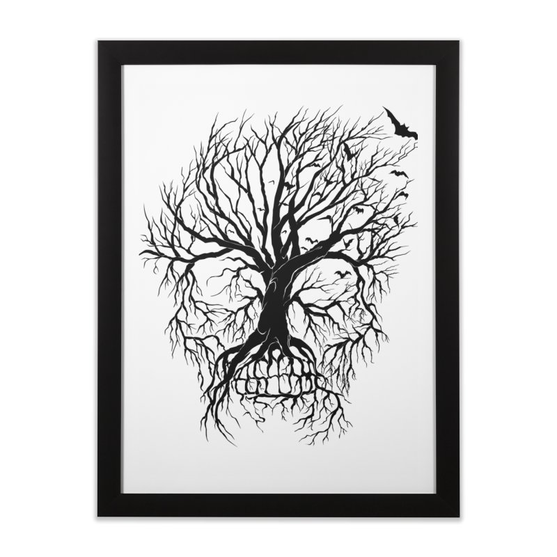 dead Tree Home Framed Fine Art Print by Hasan's Crib