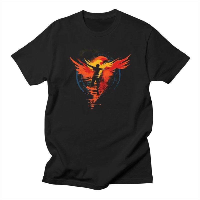 Thru the Fire Men's T-Shirt by [HAS HEART]