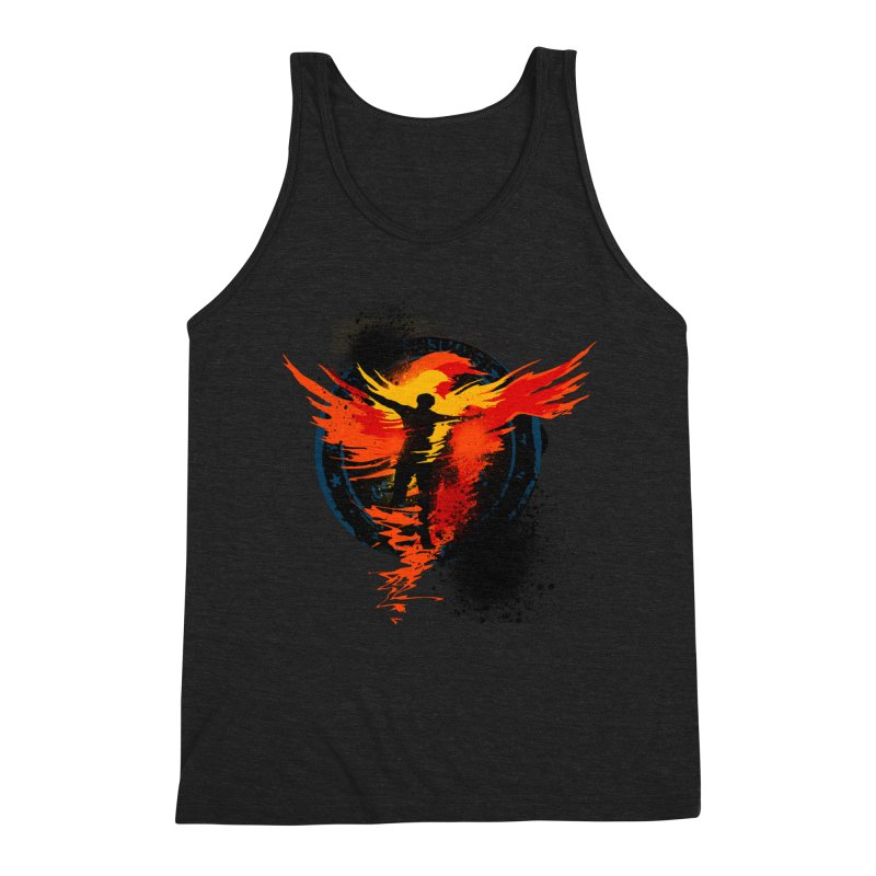 Thru the Fire Men's Triblend Tank by [HAS HEART]