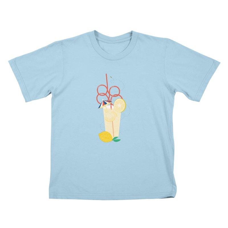 Best Damn Lemonade Kids T-Shirt by [HAS HEART]