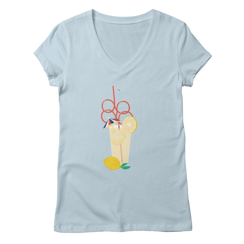 Best Damn Lemonade Women's Regular V-Neck by [HAS HEART]
