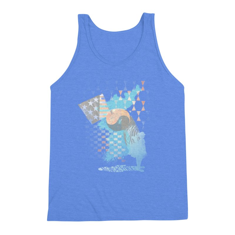 Never Forget Men's Triblend Tank by [HAS HEART]