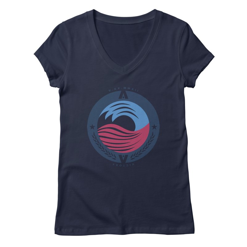 Victory Women's V-Neck by [HAS HEART]