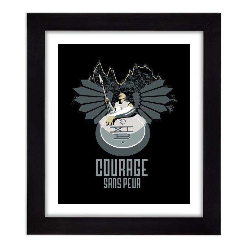 Courage Sans Peur Home Framed Fine Art Print by [HAS HEART]