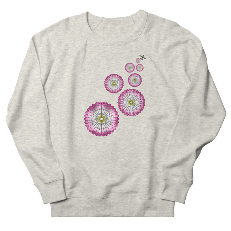 Parachute Flowers Men's French Terry Sweatshirt by [HAS HEART]