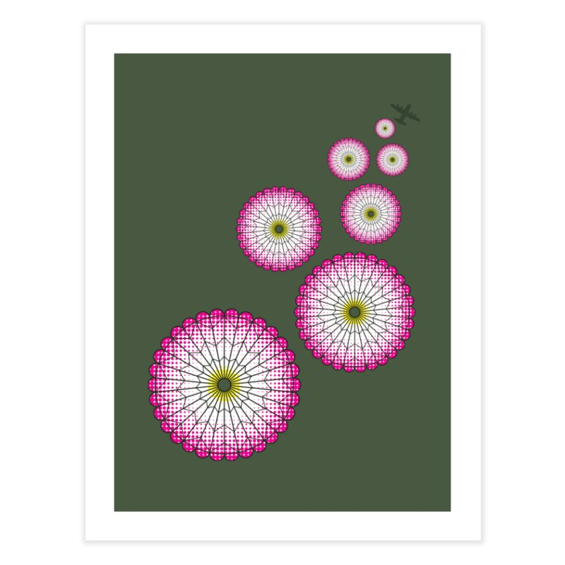 Parachute Flowers Home Fine Art Print by [HAS HEART]
