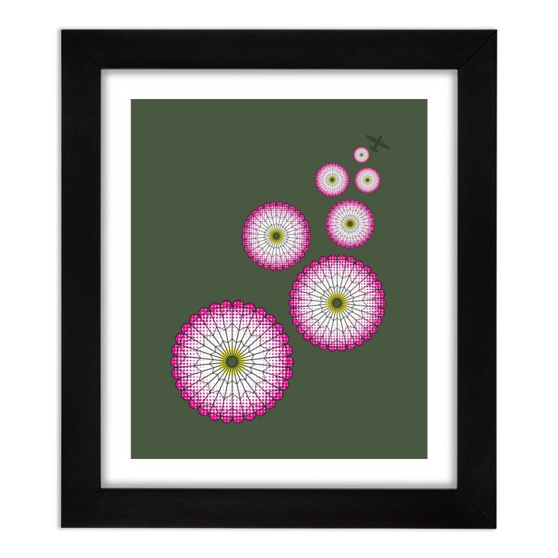 Parachute Flowers Home Framed Fine Art Print by [HAS HEART]