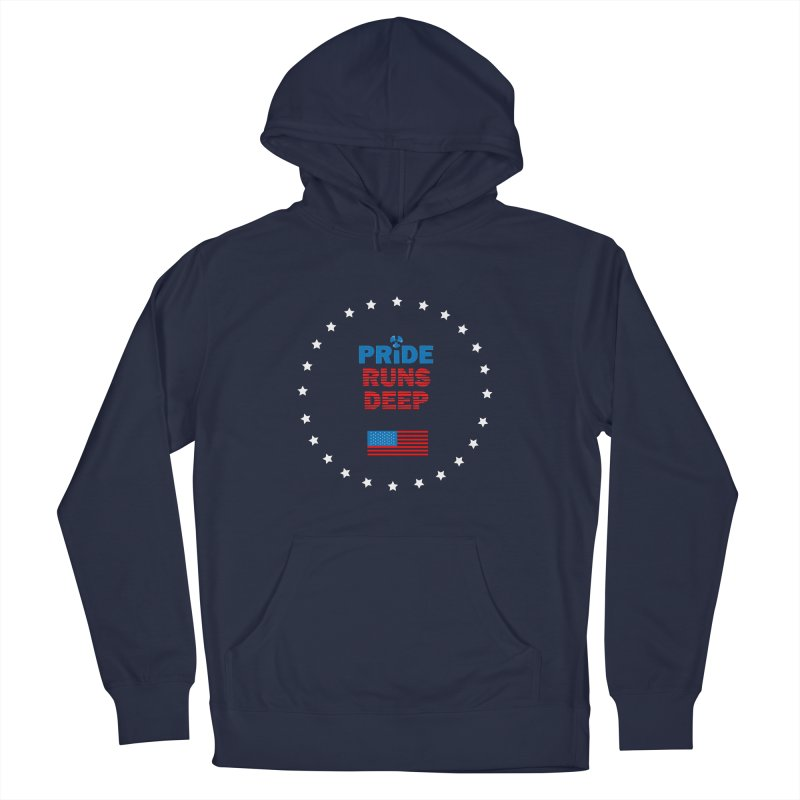 Pride Runs Deep Men's French Terry Pullover Hoody by [HAS HEART]