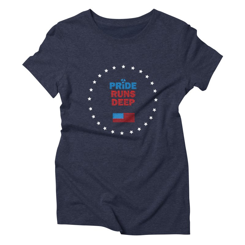 Pride Runs Deep Women's Triblend T-Shirt by [HAS HEART]