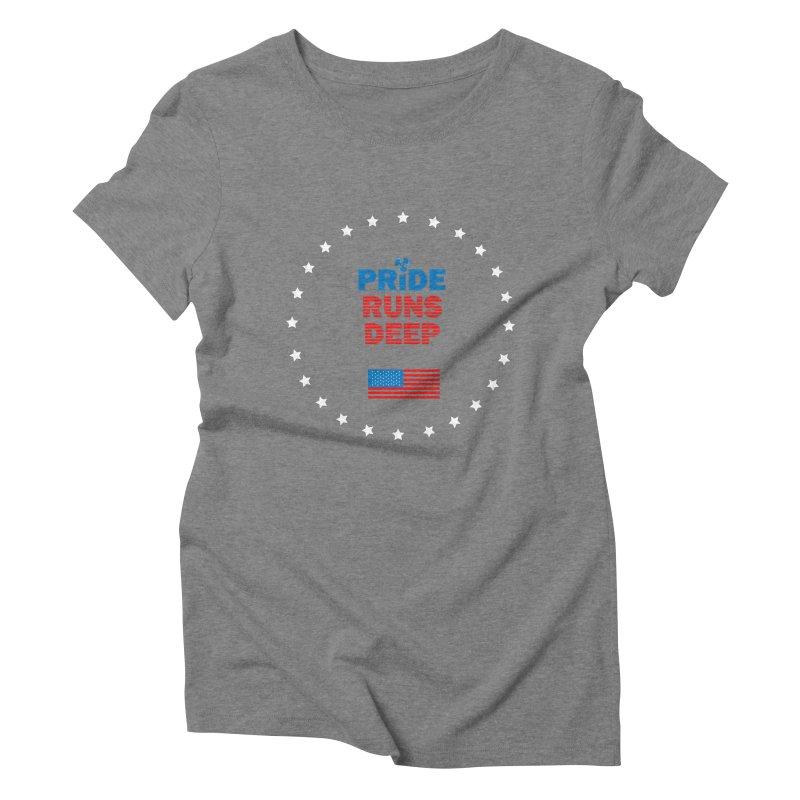 Pride Runs Deep Women's Triblend T-Shirt by [HAS HEART]