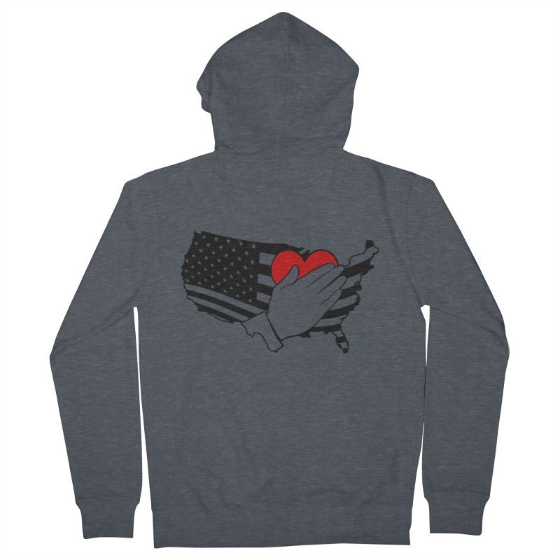 Pledge of Allegiance Men's Zip-Up Hoody by Hassified