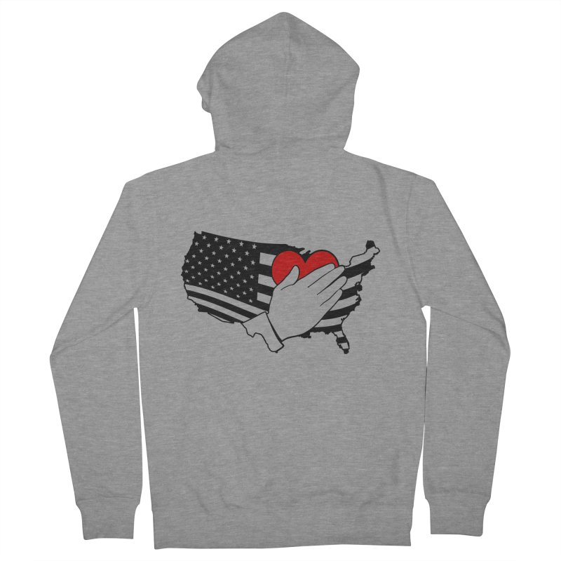Pledge of Allegiance Women's French Terry Zip-Up Hoody by Hassified
