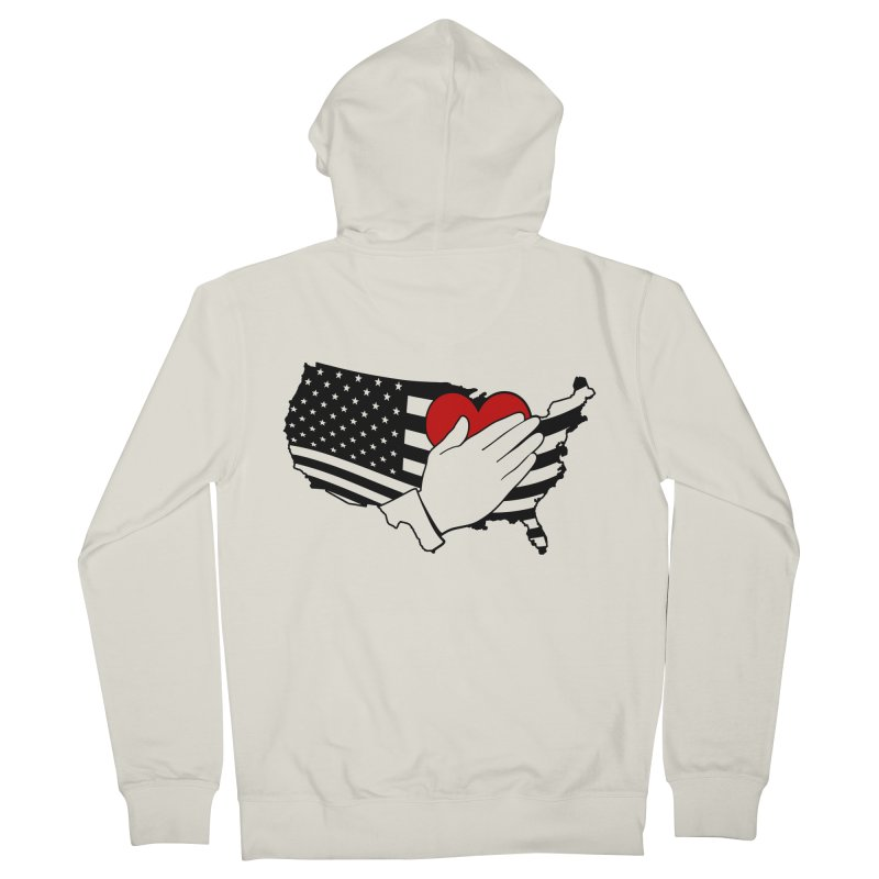 Pledge of Allegiance Men's French Terry Zip-Up Hoody by Hassified