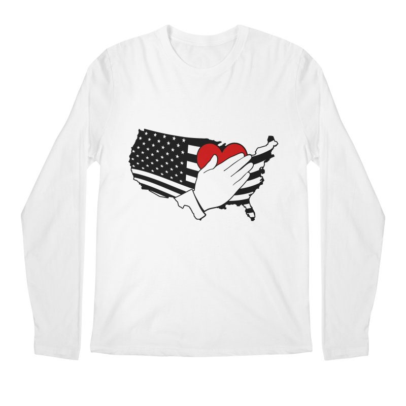 Pledge of Allegiance Men's Regular Longsleeve T-Shirt by Hassified