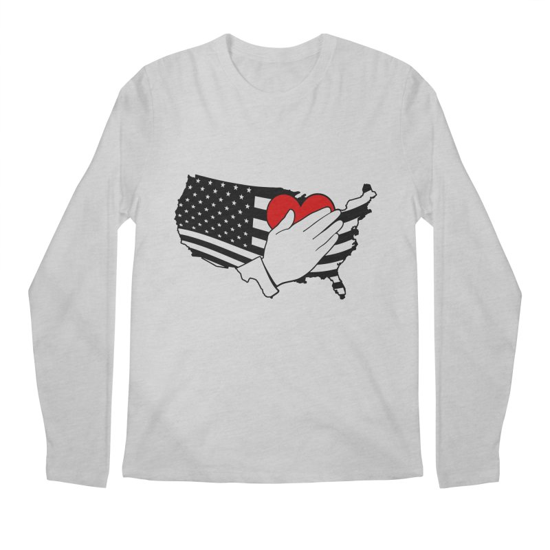 Pledge of Allegiance Men's Longsleeve T-Shirt by Hassified