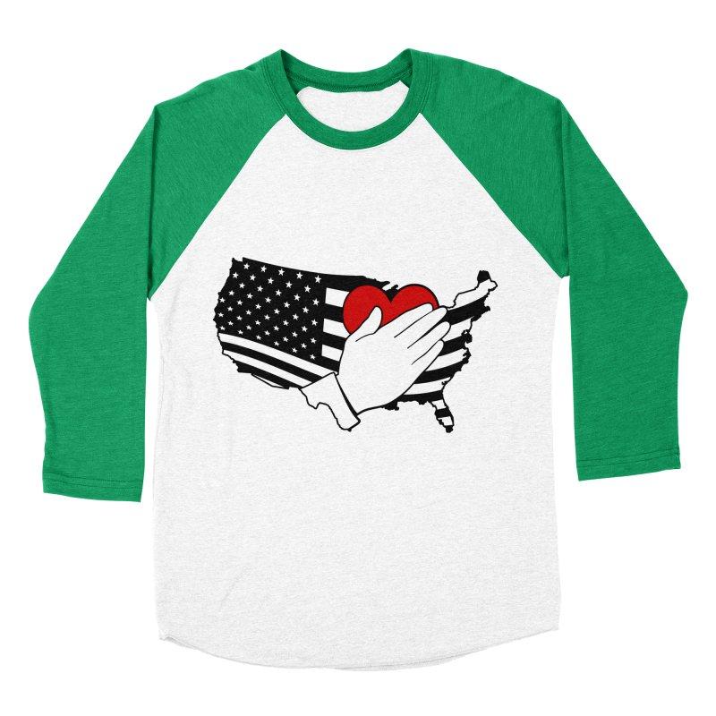 Pledge of Allegiance Women's Baseball Triblend Longsleeve T-Shirt by Hassified
