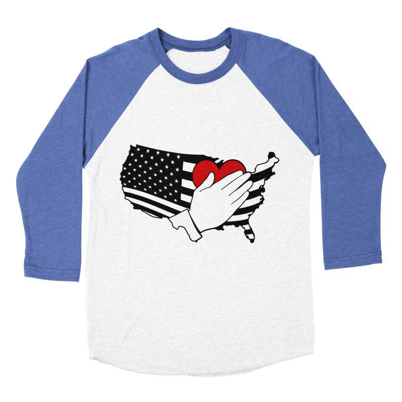 Pledge of Allegiance Men's Baseball Triblend Longsleeve T-Shirt by Hassified