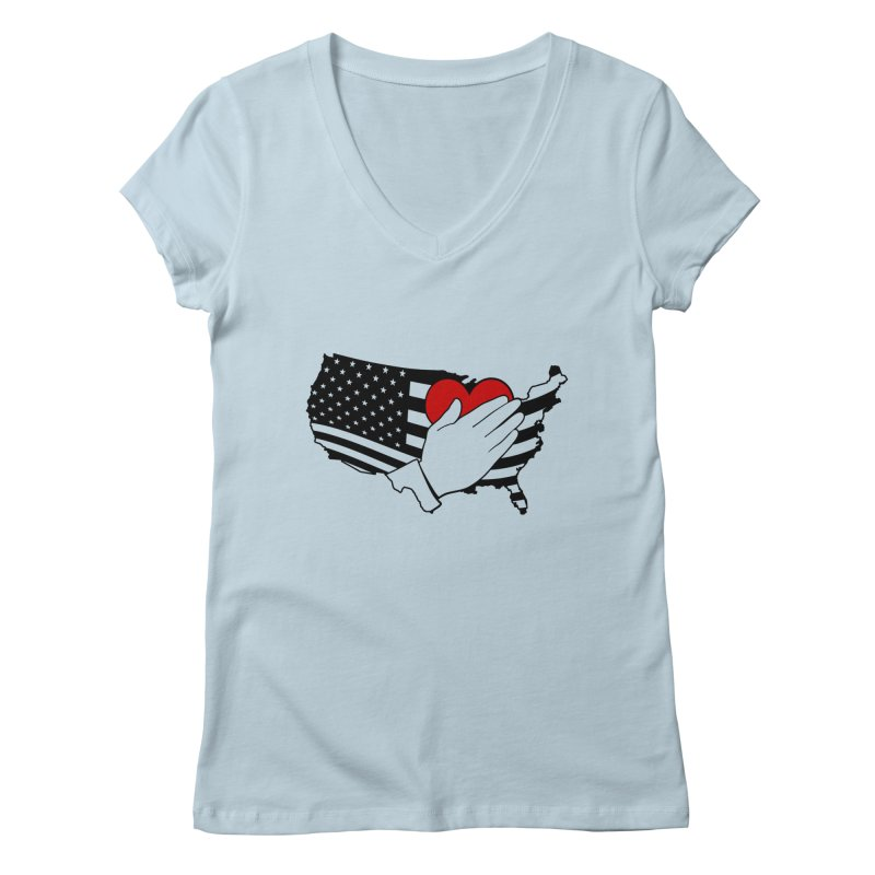 Pledge of Allegiance Women's V-Neck by Hassified