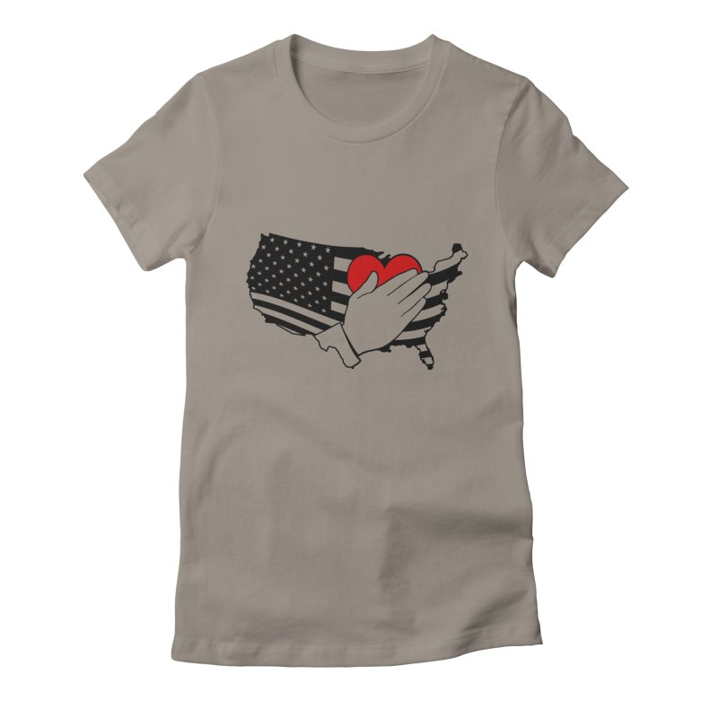 Pledge of Allegiance Women's Fitted T-Shirt by Hassified