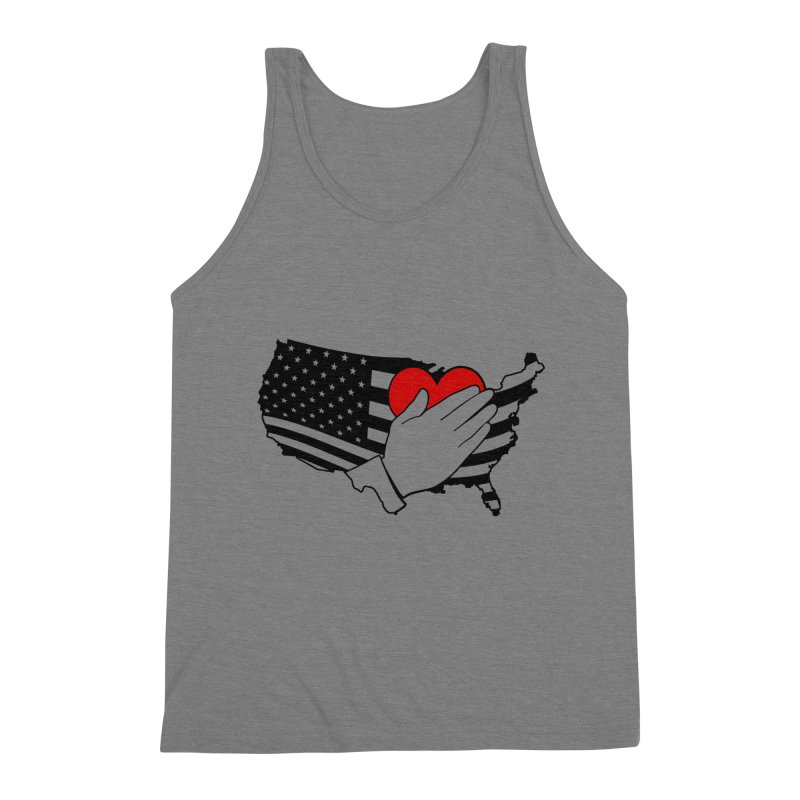 Pledge of Allegiance Men's Triblend Tank by Hassified