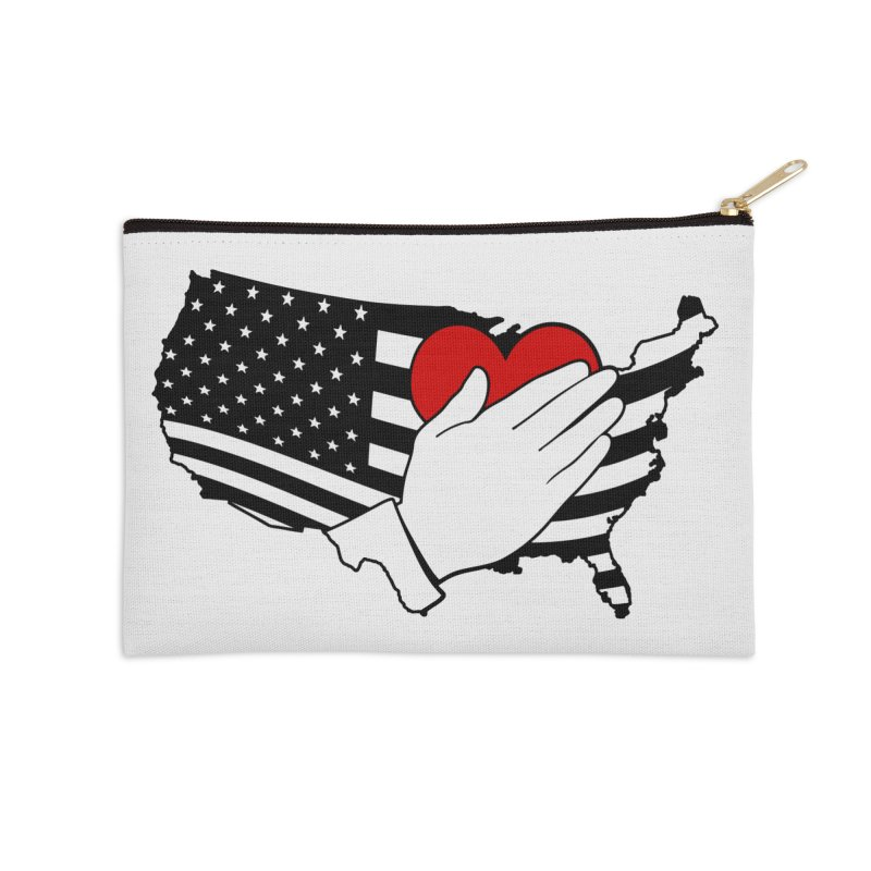 Pledge of Allegiance Accessories Zip Pouch by Hassified