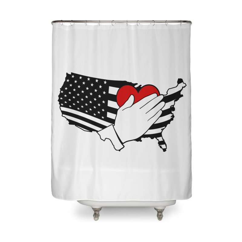 Pledge of Allegiance Home Shower Curtain by Hassified