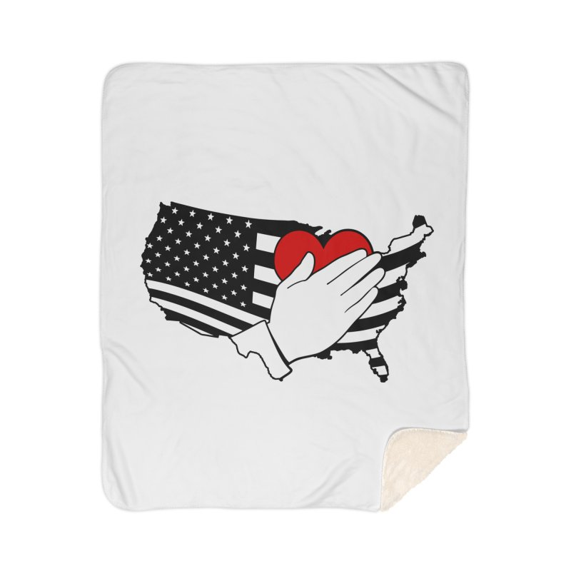 Pledge of Allegiance Home Sherpa Blanket Blanket by Hassified
