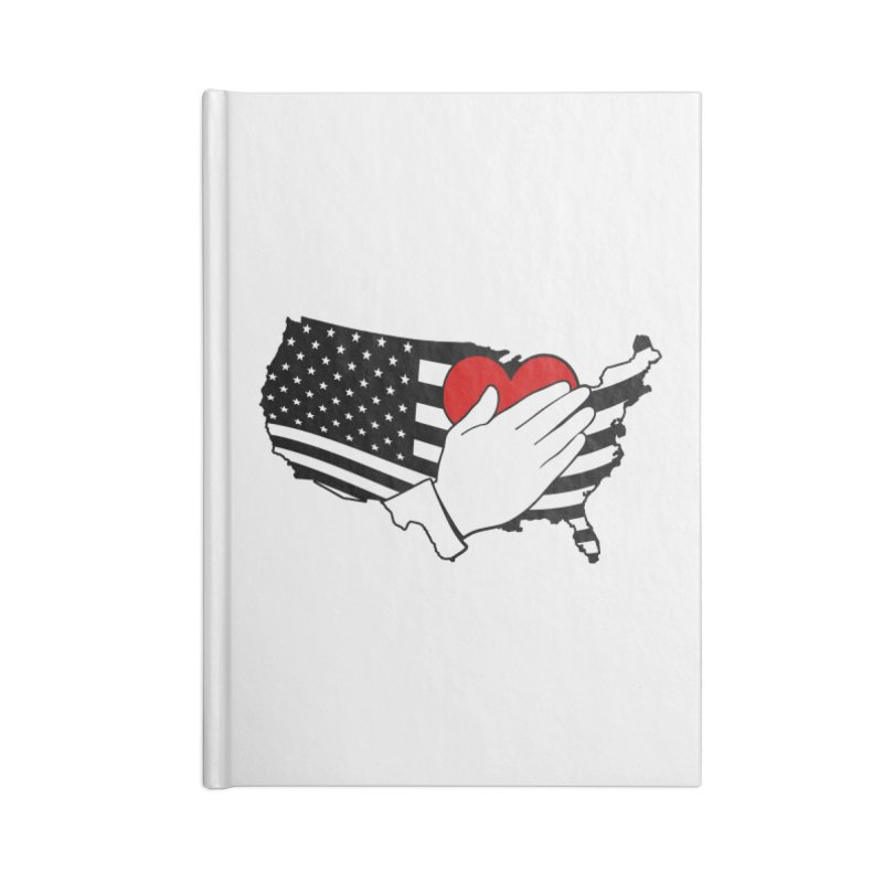 Pledge of Allegiance Accessories Blank Journal Notebook by Hassified