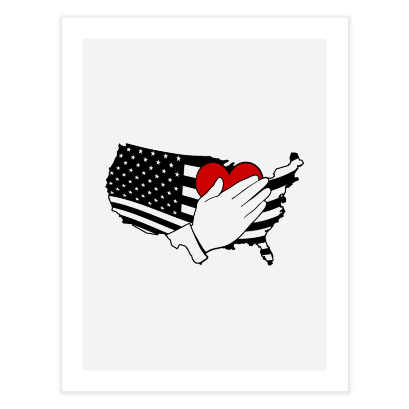 Pledge of Allegiance Home Fine Art Print by Hassified