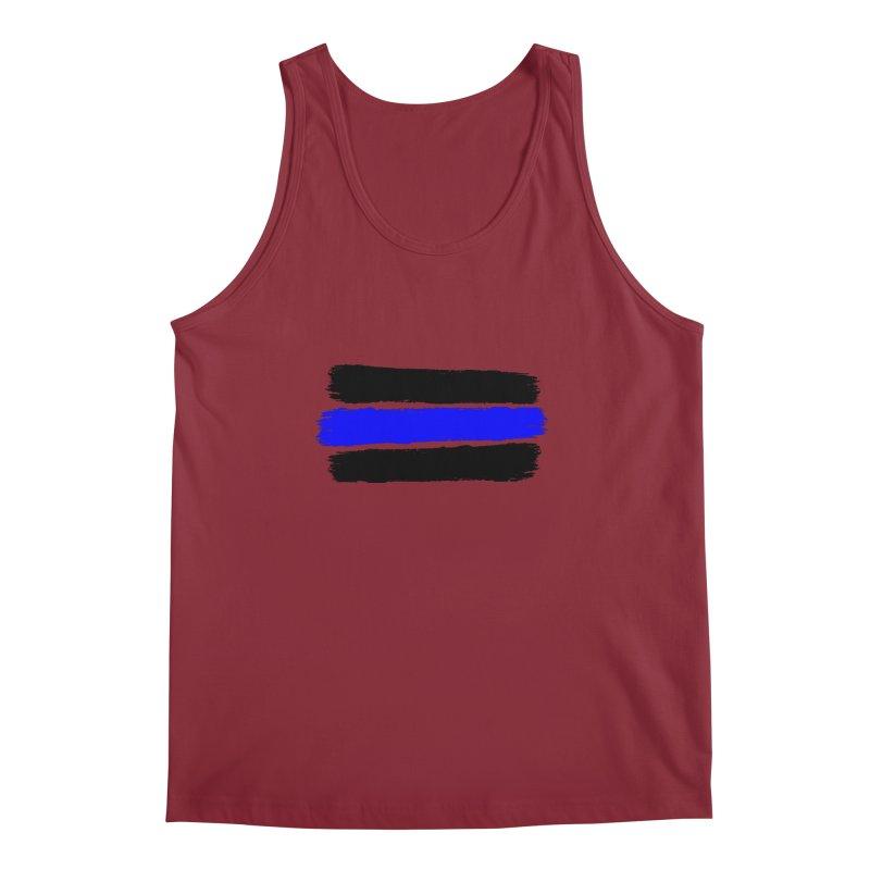 Law Enforcement Stripes Men's Regular Tank by Hassified