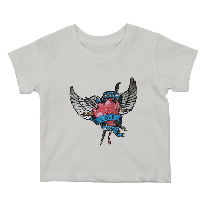 Live Love Draw Kids Baby T-Shirt by Hassified