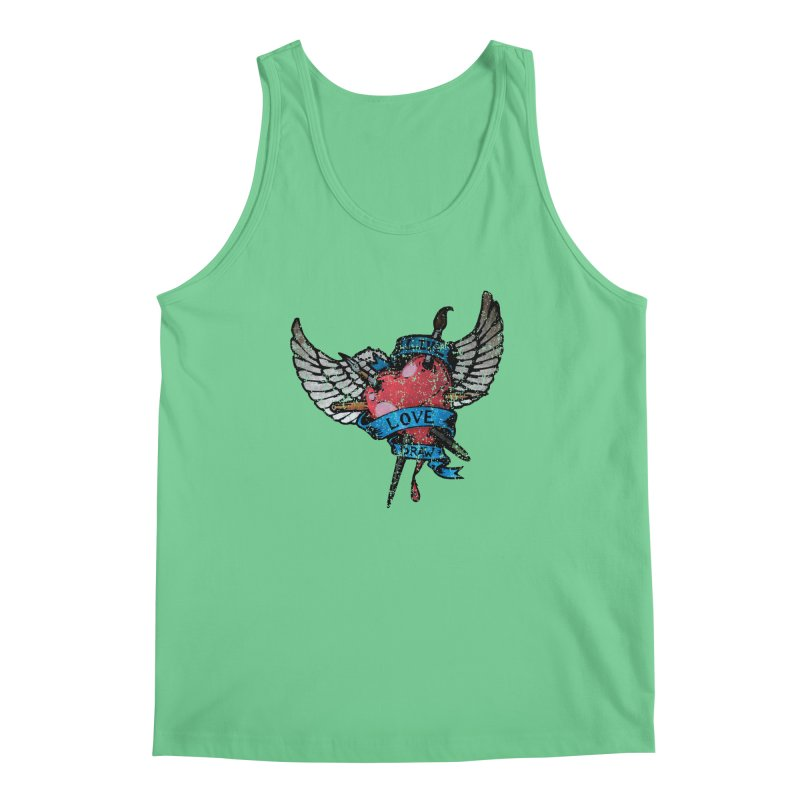 Live Love Draw Men's Regular Tank by Hassified