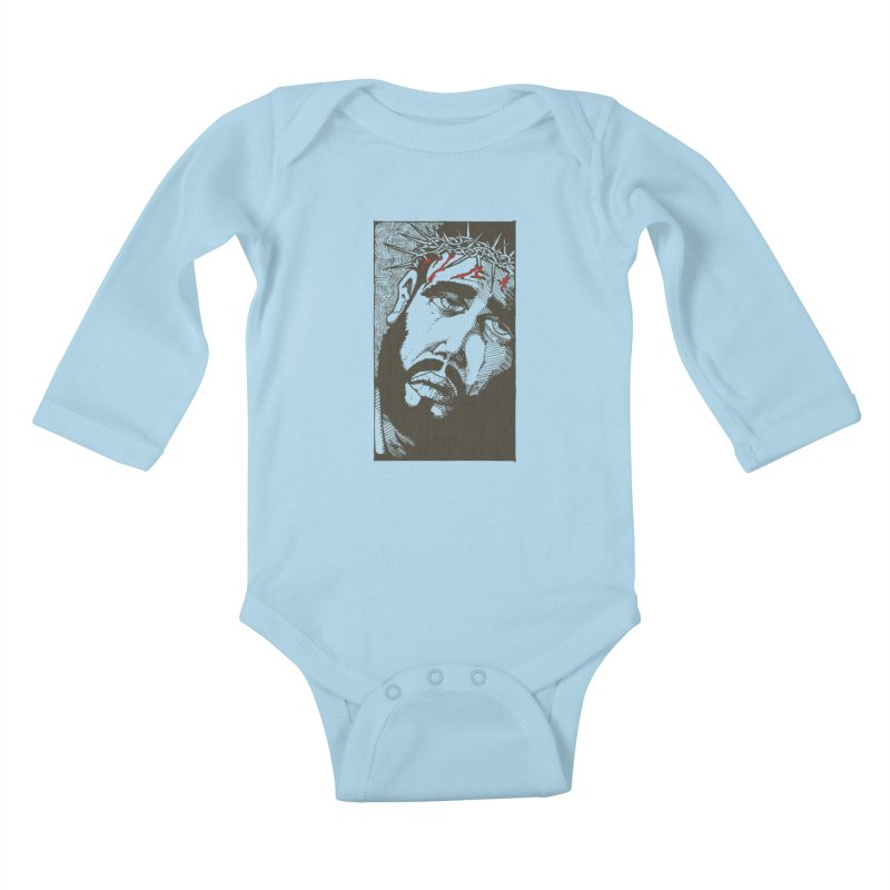 Jesus Kids Baby Longsleeve Bodysuit by Hassified