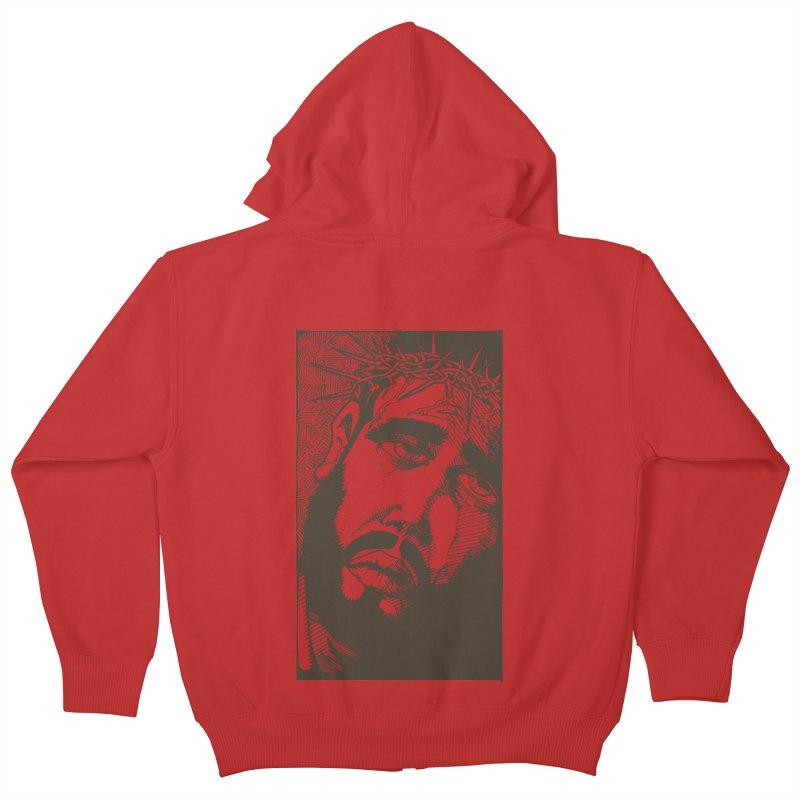 Jesus Kids Zip-Up Hoody by Hassified