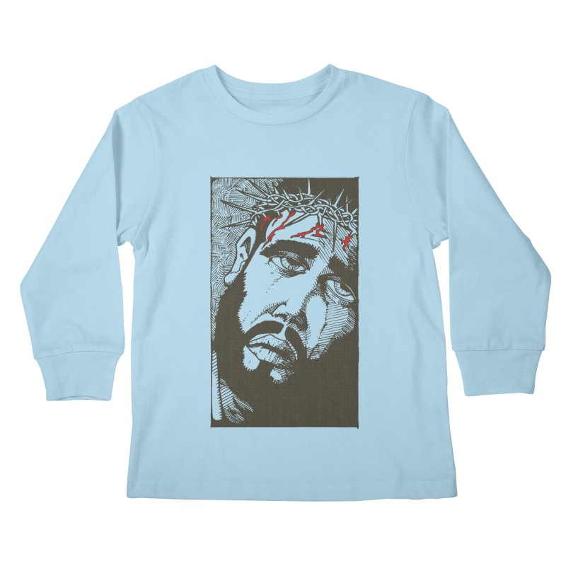 Jesus Kids Longsleeve T-Shirt by Hassified