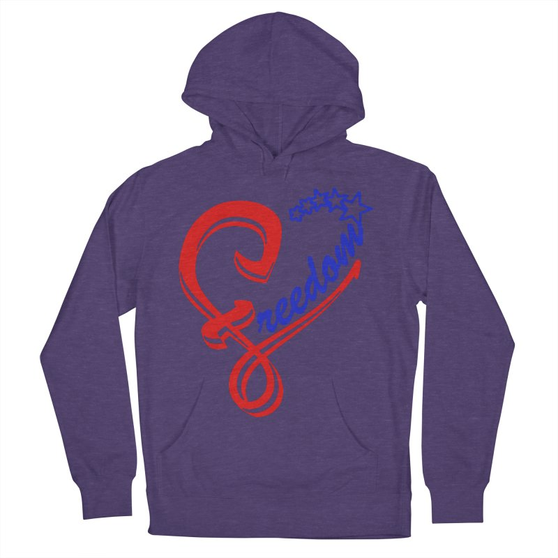 Freedom Heart Men's French Terry Pullover Hoody by Hassified