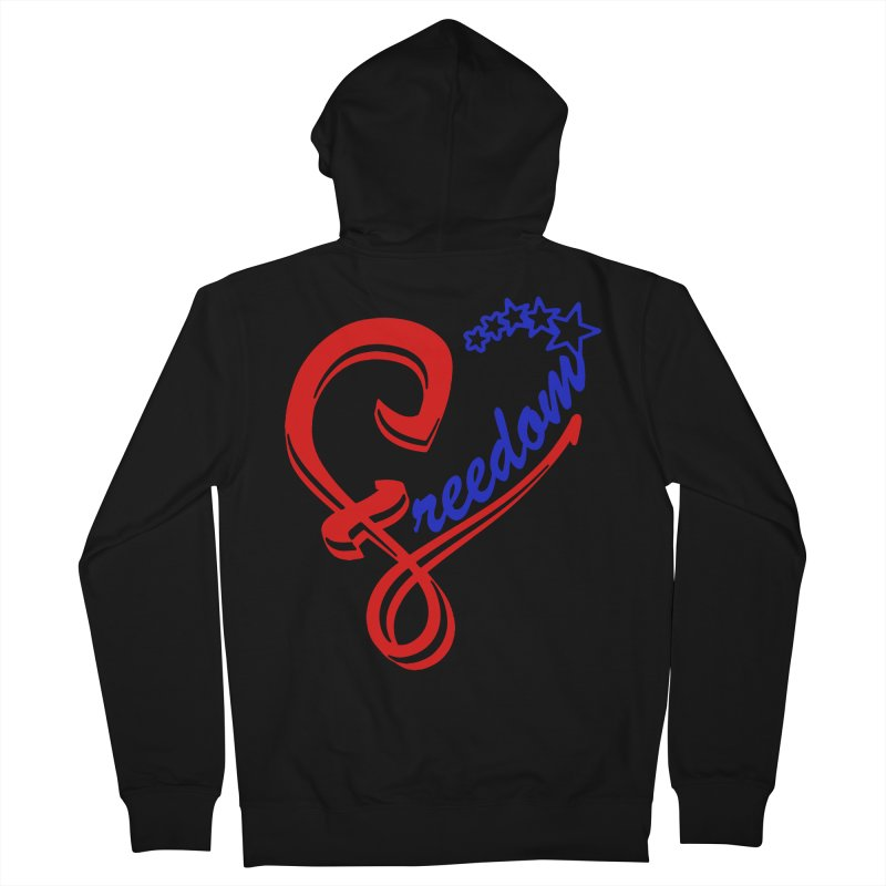 Freedom Heart Women's French Terry Zip-Up Hoody by Hassified