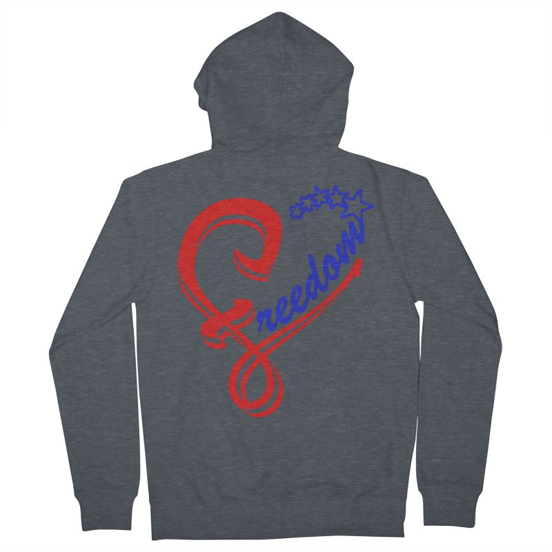 Freedom Heart Men's French Terry Zip-Up Hoody by Hassified