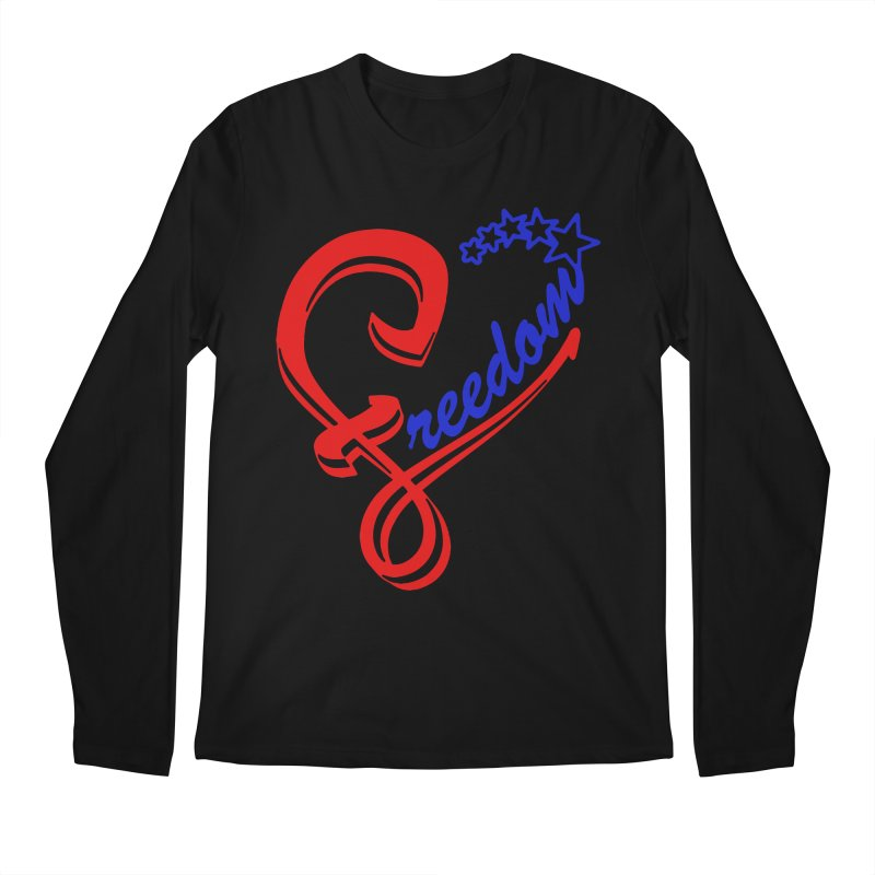 Freedom Heart Men's Longsleeve T-Shirt by Hassified