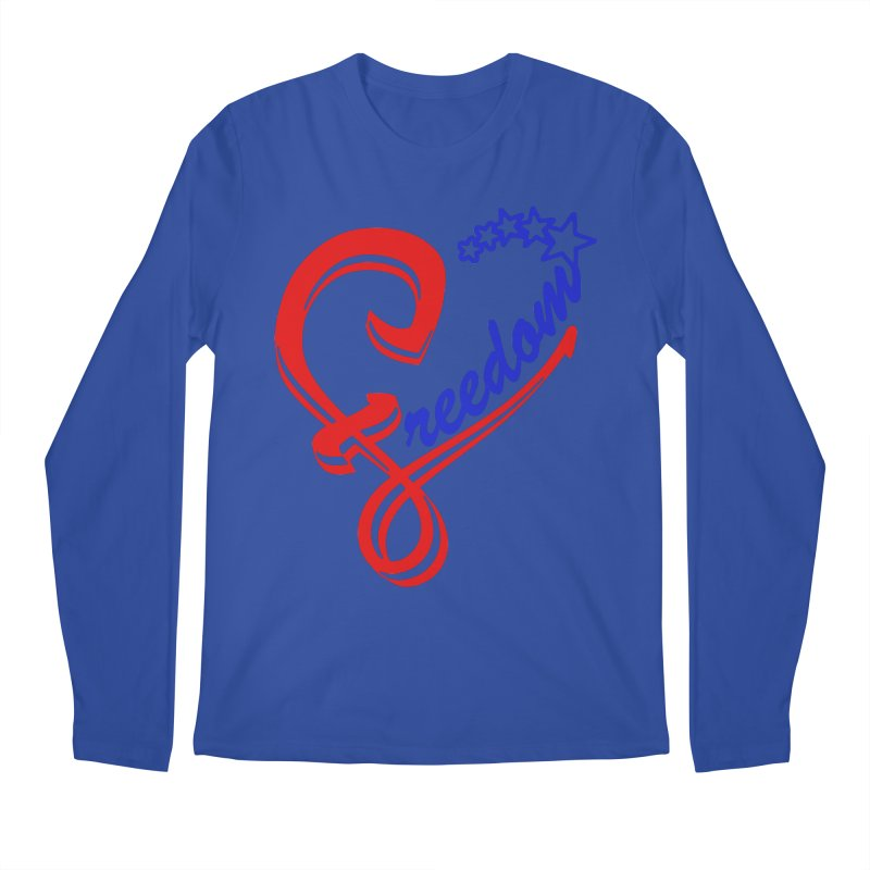 Freedom Heart Men's Regular Longsleeve T-Shirt by Hassified