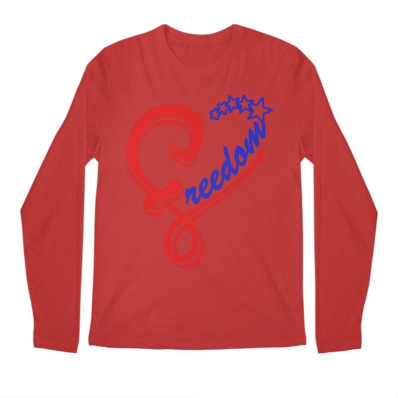 Freedom Heart Men's Longsleeve T-Shirt by Hassified