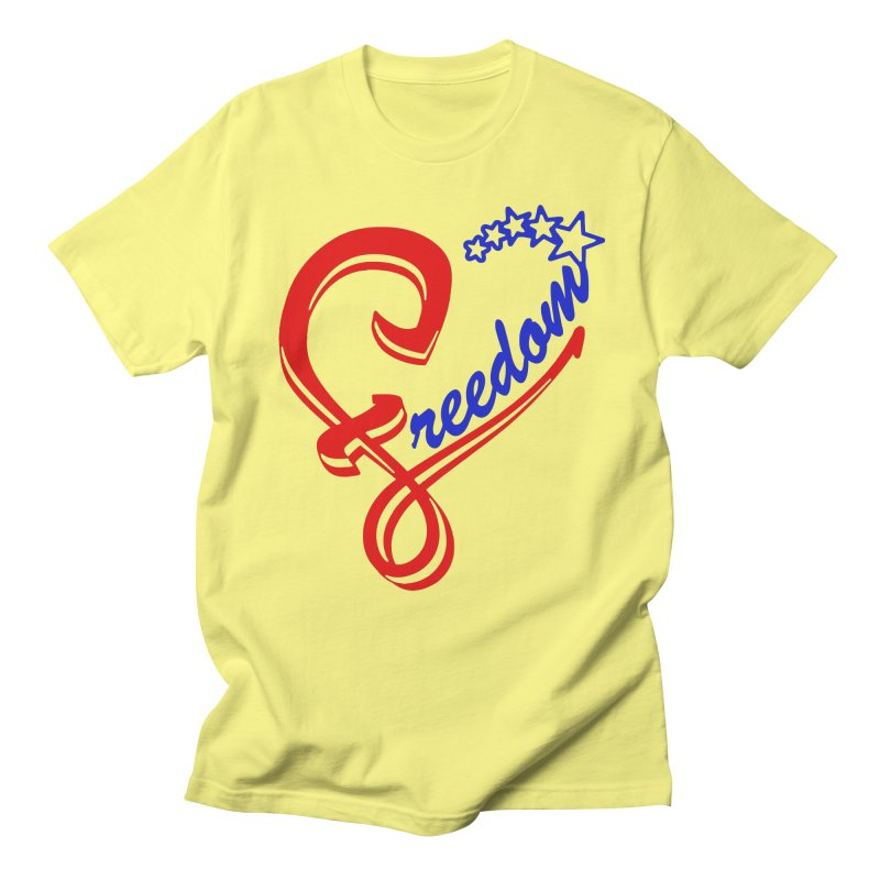 Freedom Heart Men's Regular T-Shirt by Hassified