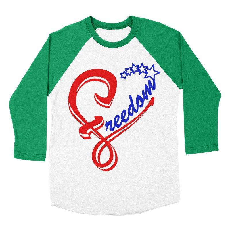 Freedom Heart Women's Baseball Triblend Longsleeve T-Shirt by Hassified