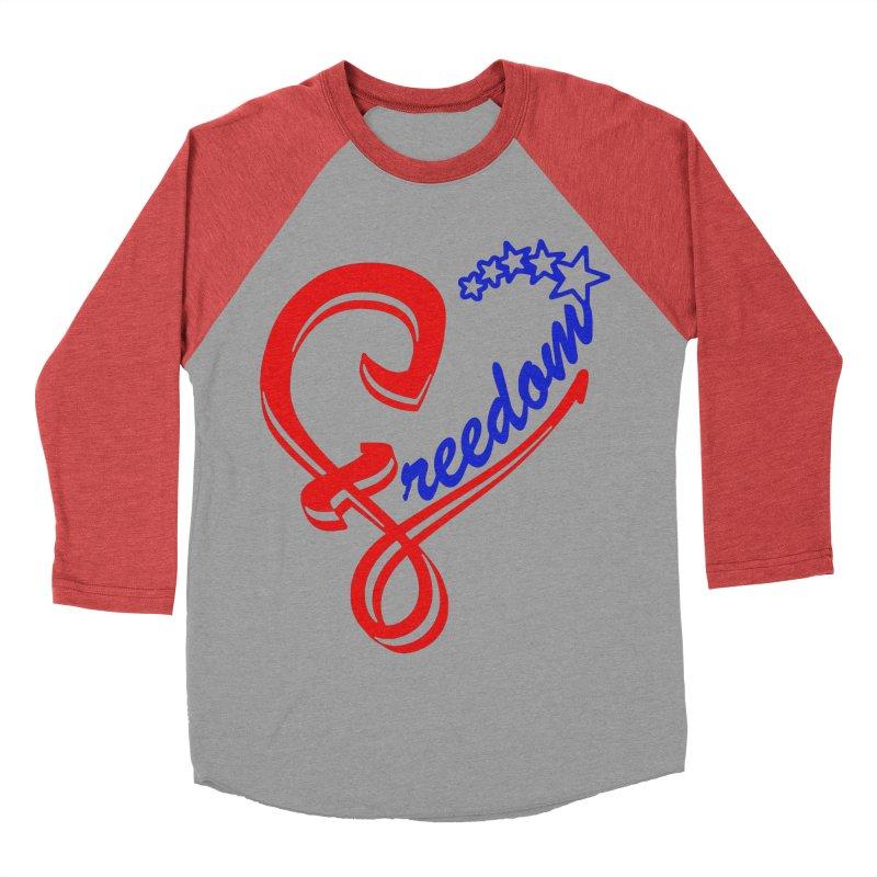 Freedom Heart Men's Baseball Triblend Longsleeve T-Shirt by Hassified