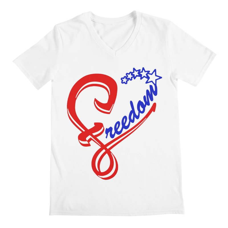 Freedom Heart Men's V-Neck by Hassified