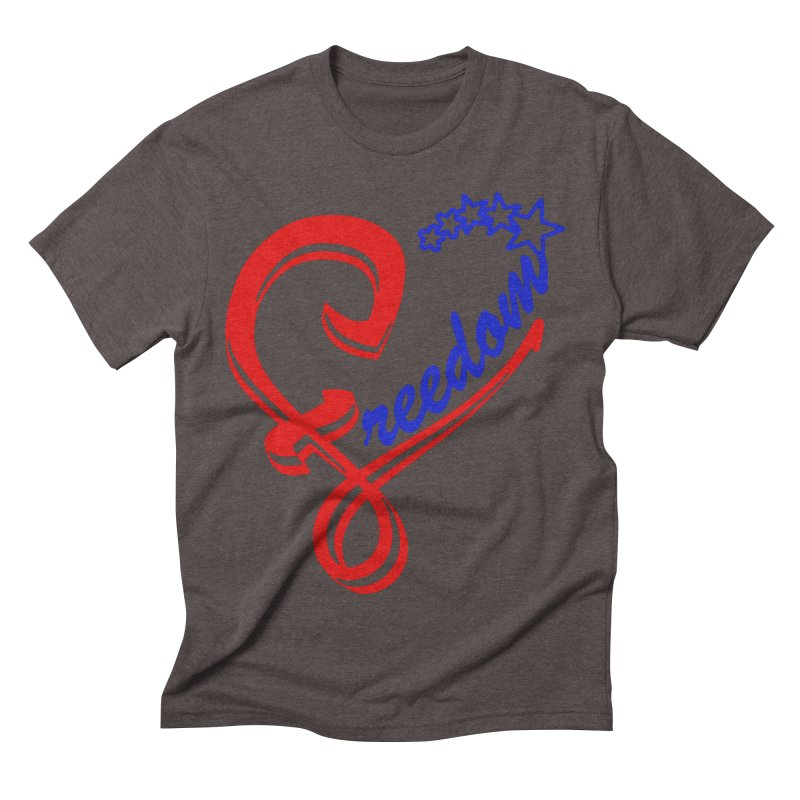 Freedom Heart Men's Triblend T-shirt by Hassified